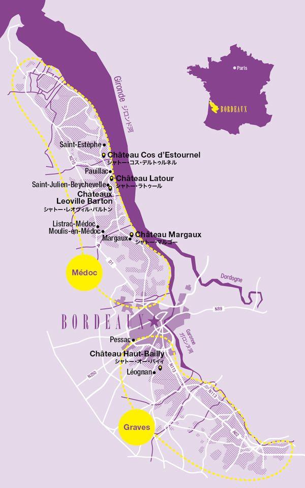Bien connu Mon 14: Map of Vineyards in Bordeaux (Graves) Pauillac (Medoc  AS42