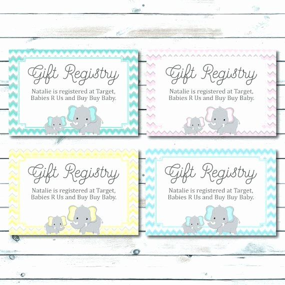 Baby Registry Cards Template Luxury Baby Shower Registry Cards Template Free For Gift Meaning Baby Shower Gift Registry Baby Registry Cards Registry Cards
