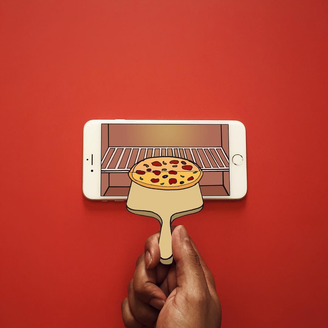 Double tap if this makes you hungry . Here's another 3D phoneframe... Hope you…