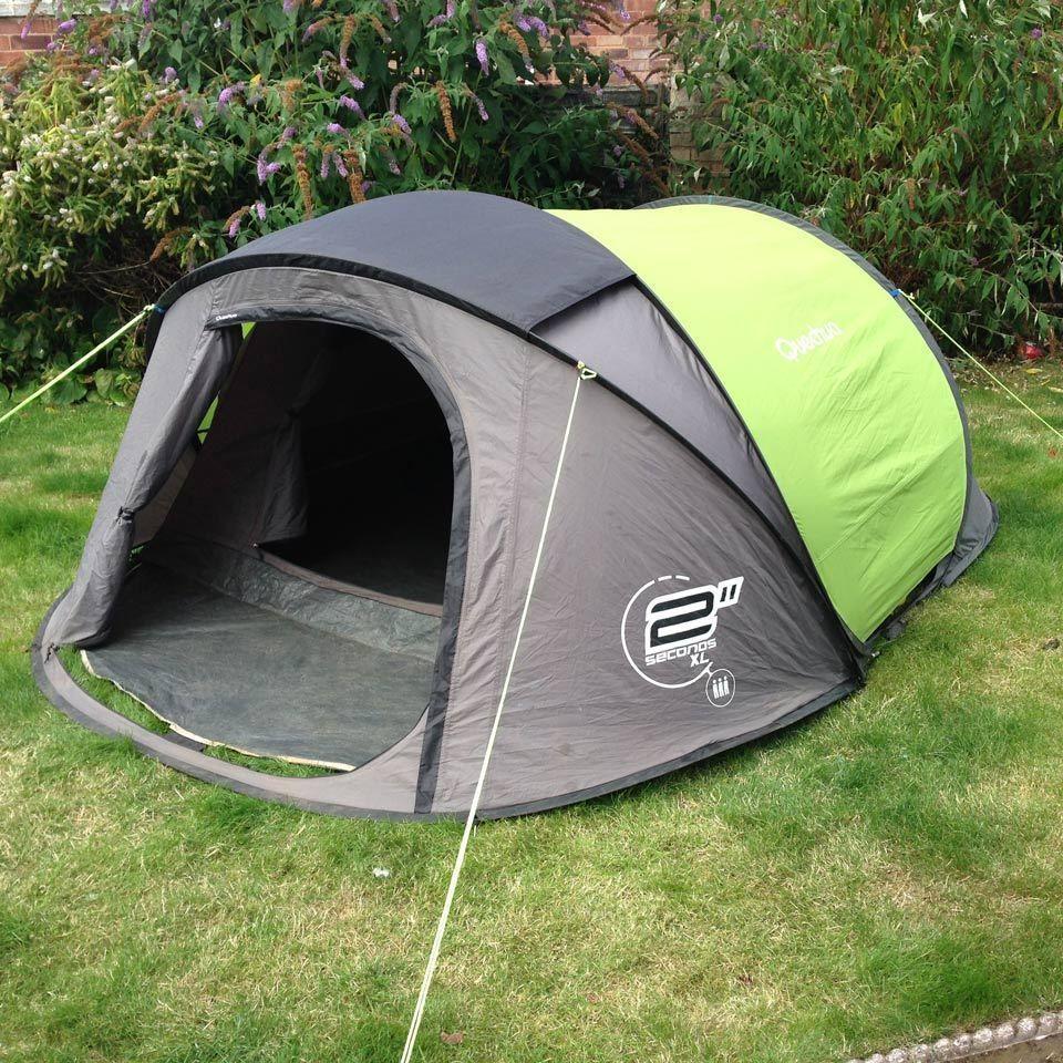 Quechua 2 Seconds XL III 3 Man Popup Tent Double Skin C&ing / Festival Pop Up & Quechua 2 Seconds XL III 3 Man Popup Tent Double Skin Camping ...