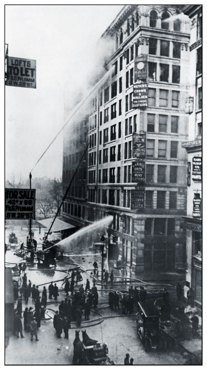 Triangle Shirtwaist Factory Fire in New York City on March 25, 1911, This fire