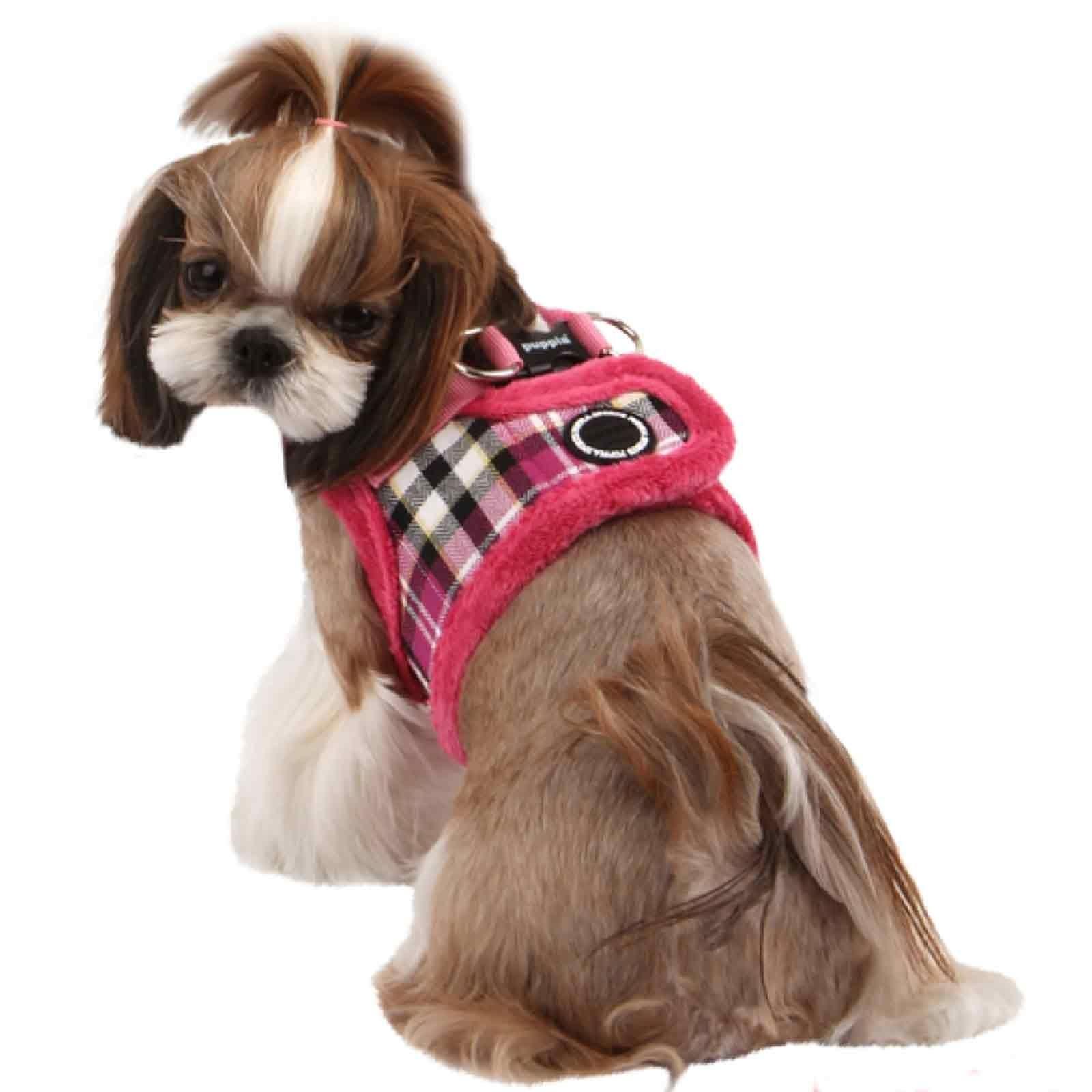 Puppia Uptown Ii Dog Harness B Vest Pink A Stunning Soft Thick