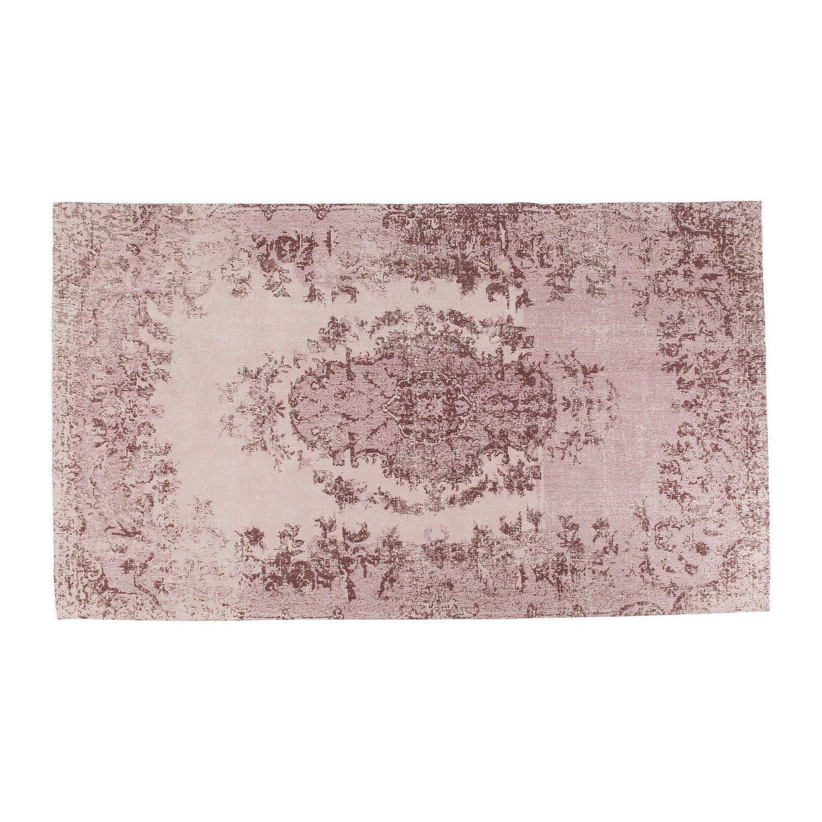 Tapis Baroque Rose Poudre Ornament Kare Design Tapis Tapis
