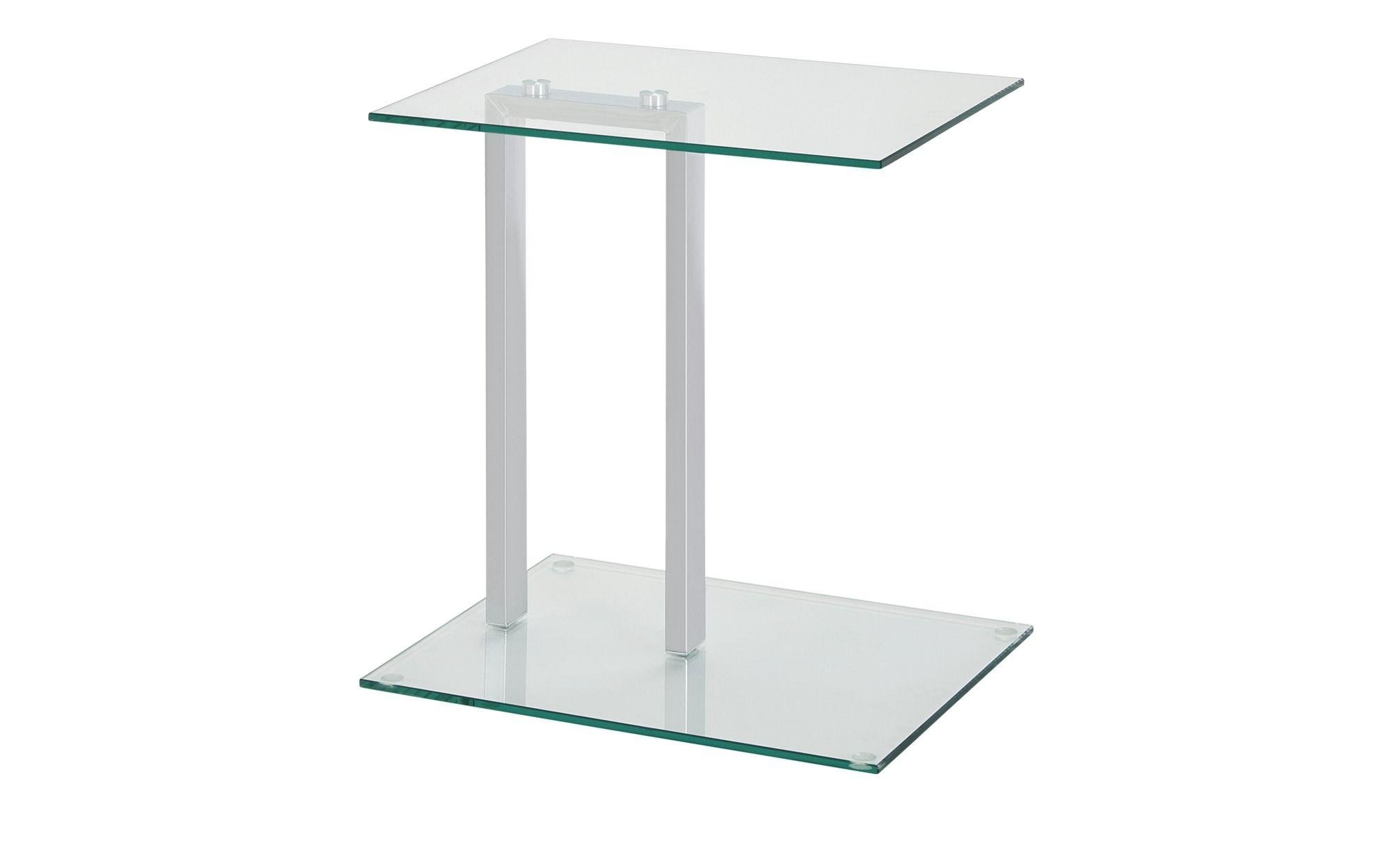 Beistelltisch Hanau Transparent Klar Materialmix 45 Cm 50 Cm