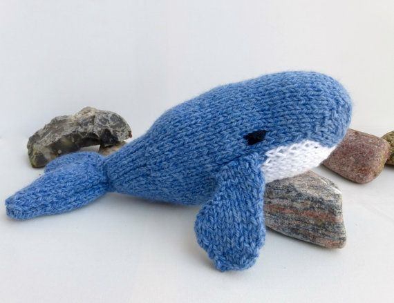 Toy Whale Knitting Pattern, PDF instant download to knit ...