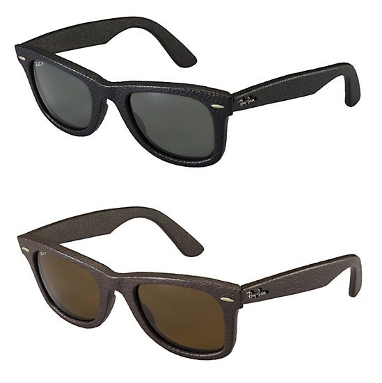 085ea27b80cfe Ray Ban up-to-date Wayfarers which feature a leather wrapped frame  available in brown and black leather.  Al Jaber Optical  dubai  abudhabi   uae  eyewear   ...