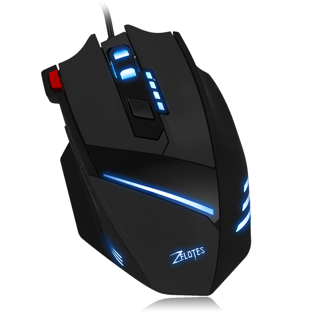 ZELOTES T-60 7200DPI Professional USB Wired Optical 7 Buttons Gaming Mouse