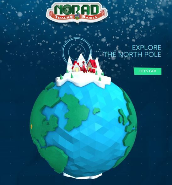 Visit the Norad Santa Tracker and learn how they track