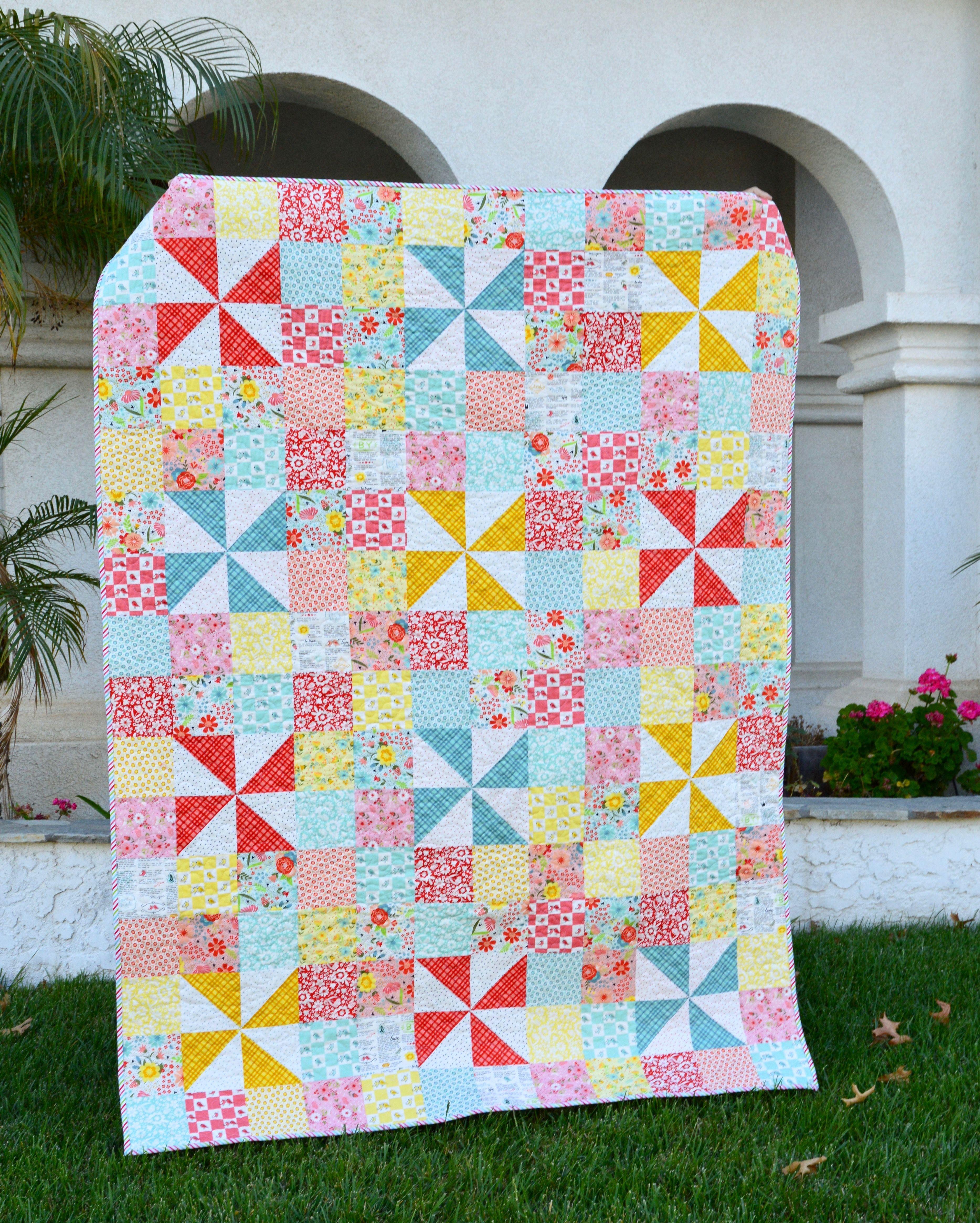 Pinwheels u Patches Quilt Tutorial Quilt patterns Pinterest