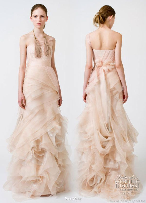 Vera Wang Colored Wedding Dresses