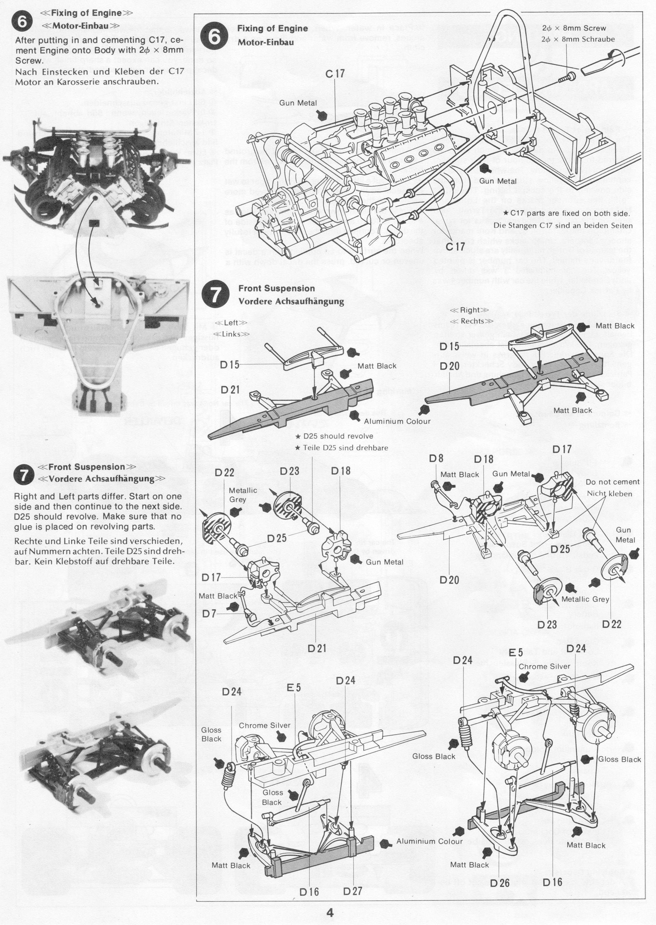 Pin By Gluefinger On Tamiya 1 20 Tyrrell P34 Sheet Music Tamiya Instruction