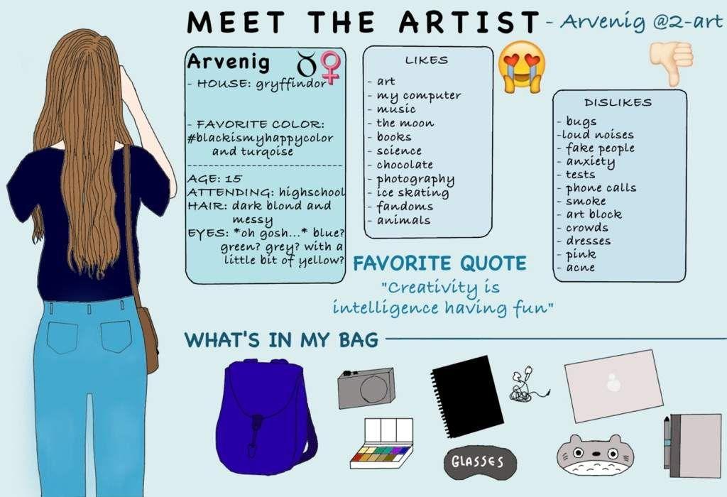 Arvenig's meet the artist at 2-art.tumblr.com