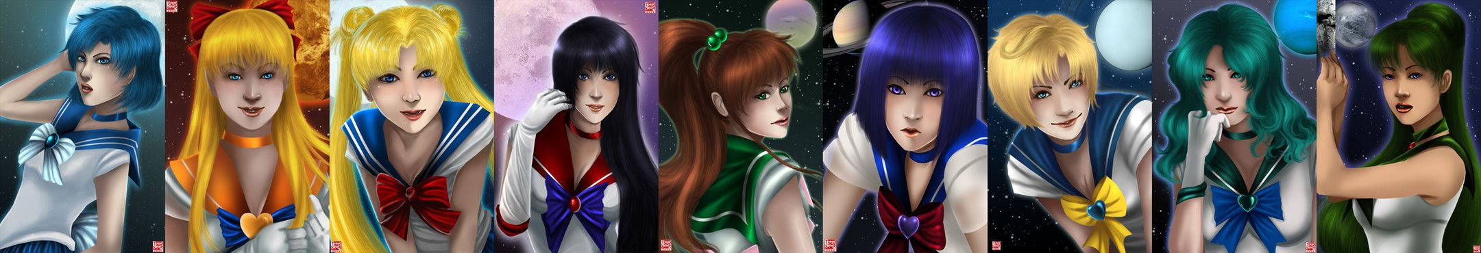 Sailor Senshi by TyrineCarver on DeviantArt