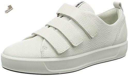 ECCO Women's Women's Soft 8 Strap Fashion Sneaker, White, 38 EU/7-