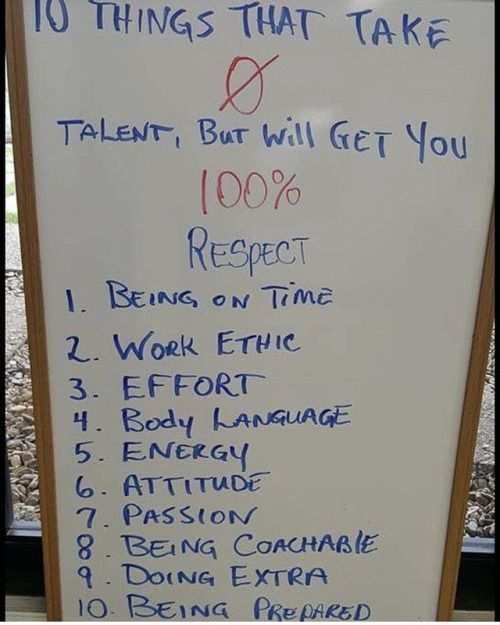 10 Things That Take Zero Talent But Will Give You 100 Respect