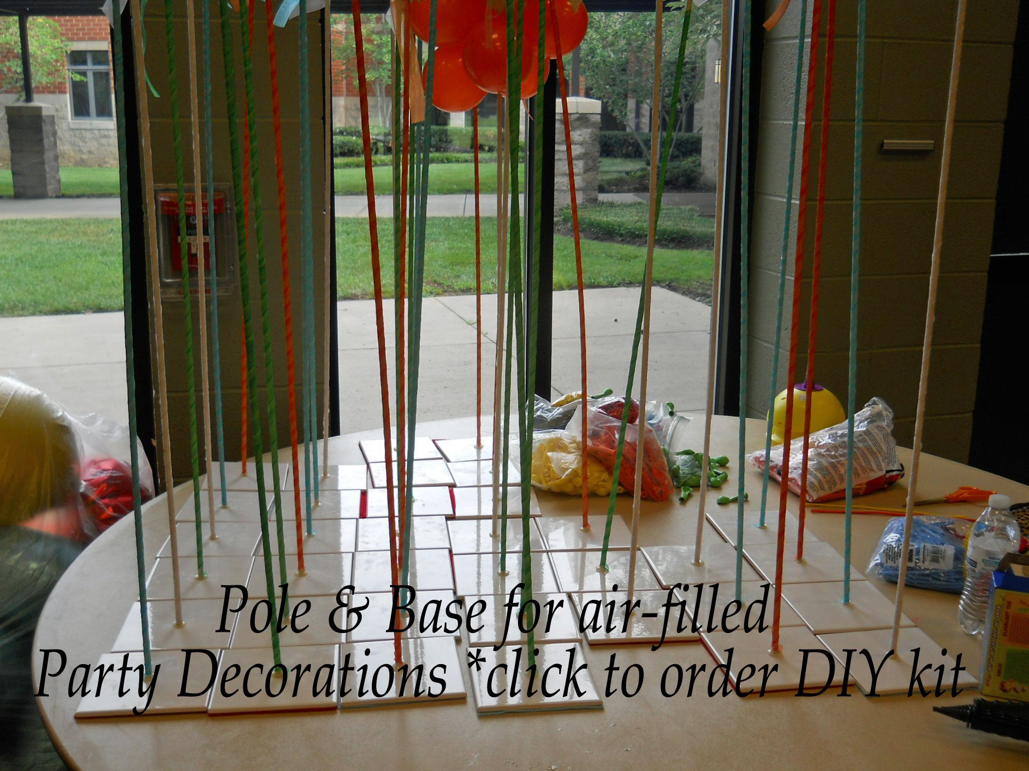 Click pin for diy pole and base kits to make balloon for Balloon arch decoration kit