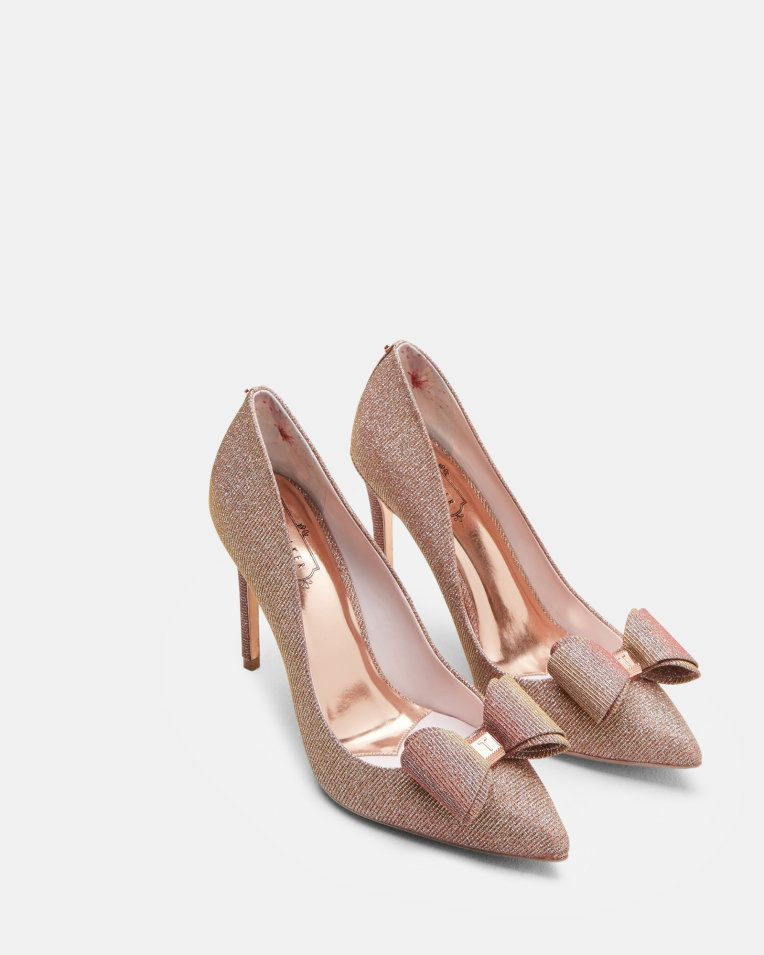 Bow detail courts - Rose Gold | Shoes