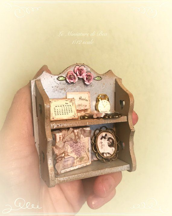 1:12 dollhouse miniatures handmade set of decorative boxes