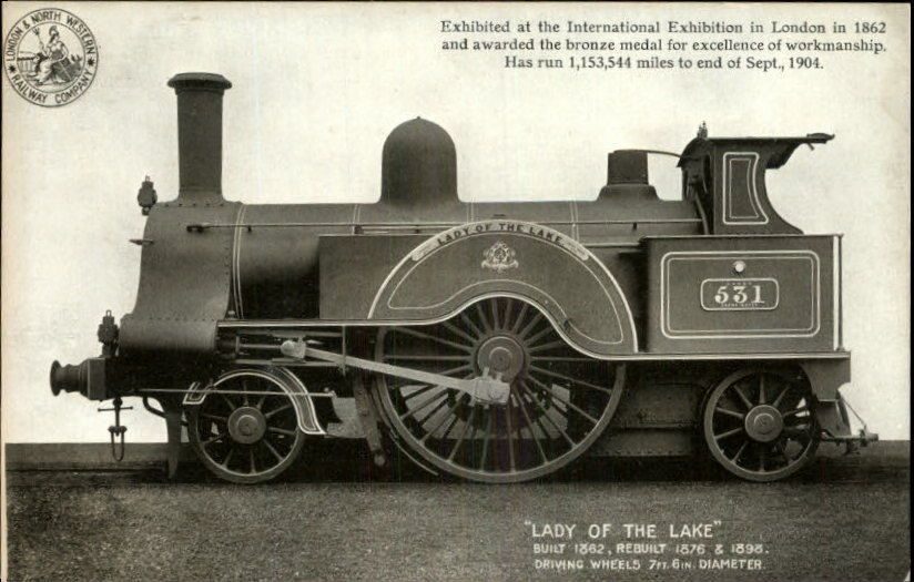London North Western Railway Co Lady Of The Lake Train Engine C1910 Postcard Model Trains Train Engines Train