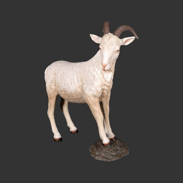 Billy Goat Cream Life Size Farmyard Model - Lize Size Models