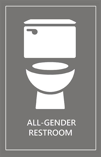All Gender Restroom Postcard All Gender Restroom Restrooms Signage Bathroom Signage