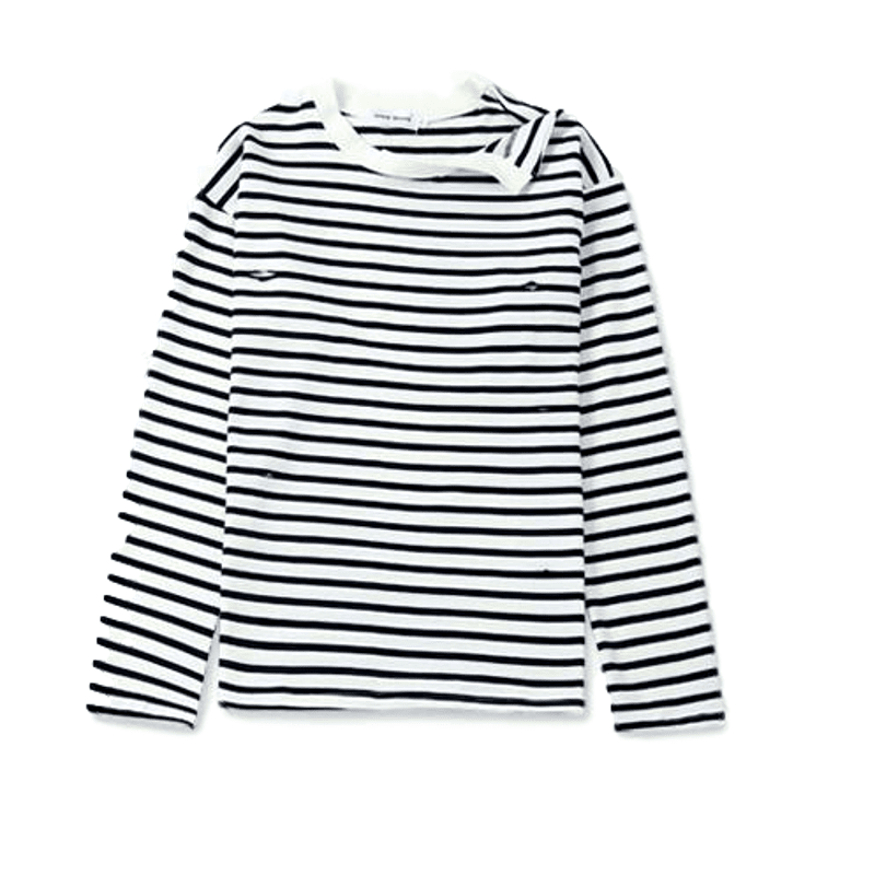 4c4669828e Oversized striped shirt with irregular shoulders inspired by Jimin from BTS  Material: Cotton Blend