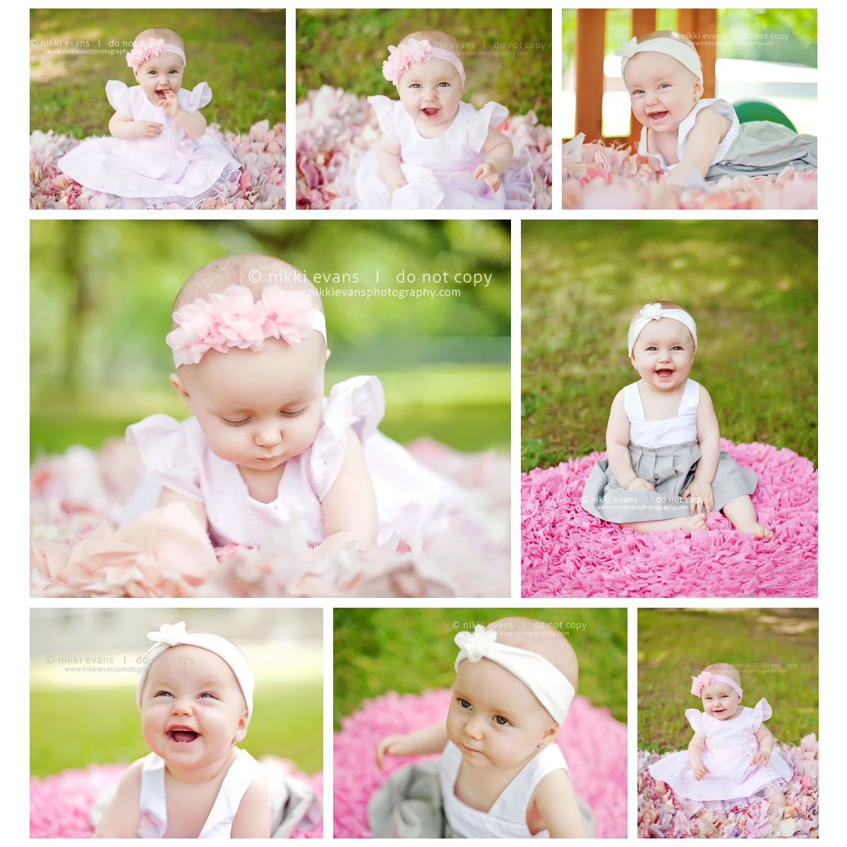 8 month old session with a beautiful baby girl
