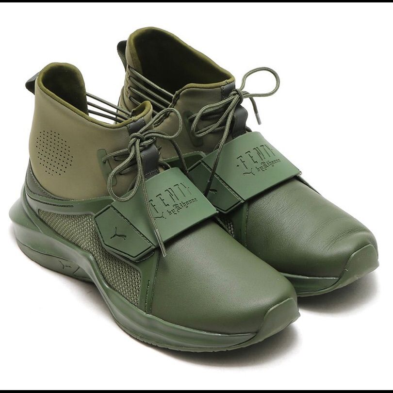 wholesale dealer 93229 e89b0 Puma Shoes | Puma Fenty Hi Trainer Sneaker Olive Green ...