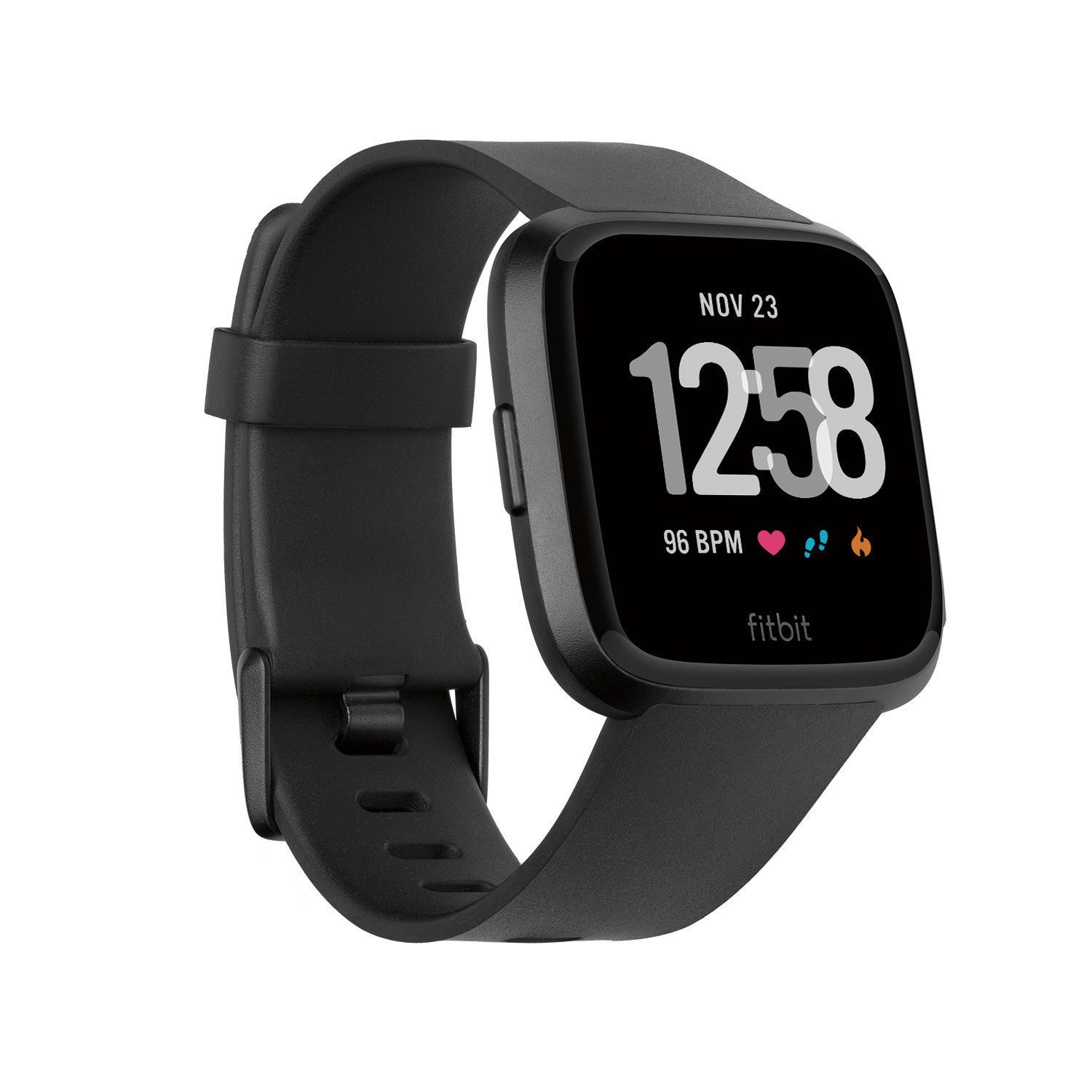 New Fitbit Versa Smartwatch Black Pebble Only Activity Trackers Fitbit Smartwatch Fitness Uhr