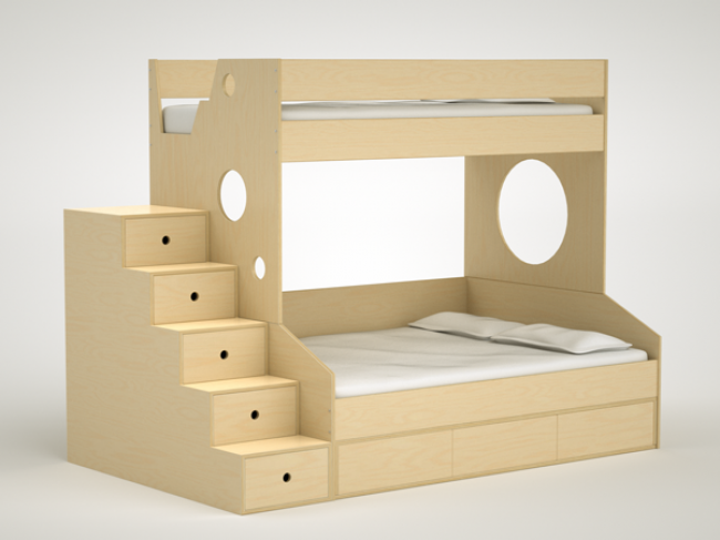 casa kids furniture. Dumbo Bunk Bed Twin Over Full With Trundle - Casa Kids Furniture