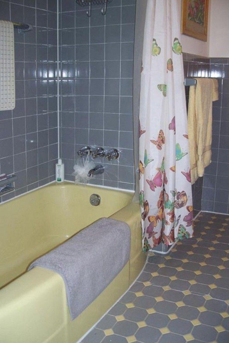 45 Amazing Yellow Tile Bathroom Paint Colors Ideas Bathroom Bathroomdecor Bathroomdecorideas Yellow Bathroom Tiles Yellow Bathrooms Bathroom Paint Colors
