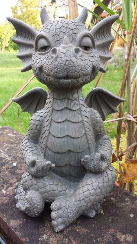 Details Zu Gartenfigur Gartendrache Modell Yoga Fantasy Figur Deko Drache Gartendeko Dragon Garden Dragon Sculpture Dragon Statue