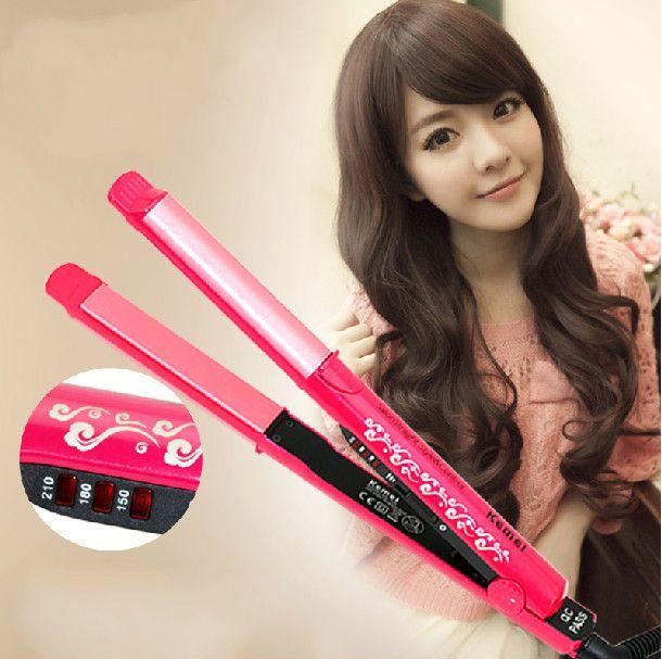 Fashion straight hair curl ceramic hair curler Cute Kawaii - clothing sponsorship