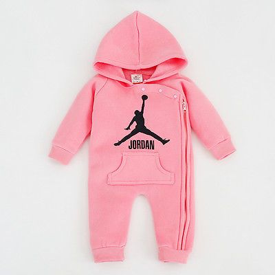 New Baby Jordan Romper Top Baby Girl Babygrows Outfits
