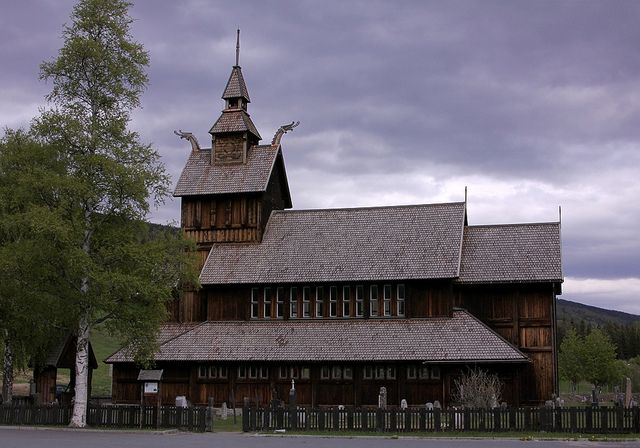 Uvdal kirke, Norway, designed by Henrik Bull and inaugurated in 1893.