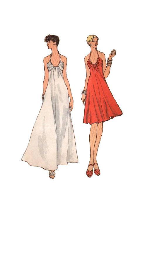 Retro 70s Vogue 8583 Sewing Pattern Retro Disco Sexy Dress American ...