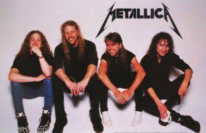 Amazon.com: Metallica Poster Band Shot Vintage Metalica: Home & Kitchen