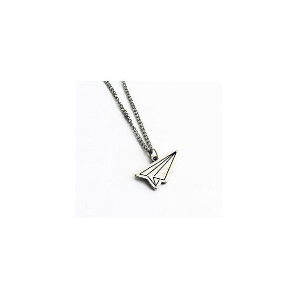 paper plane necklace