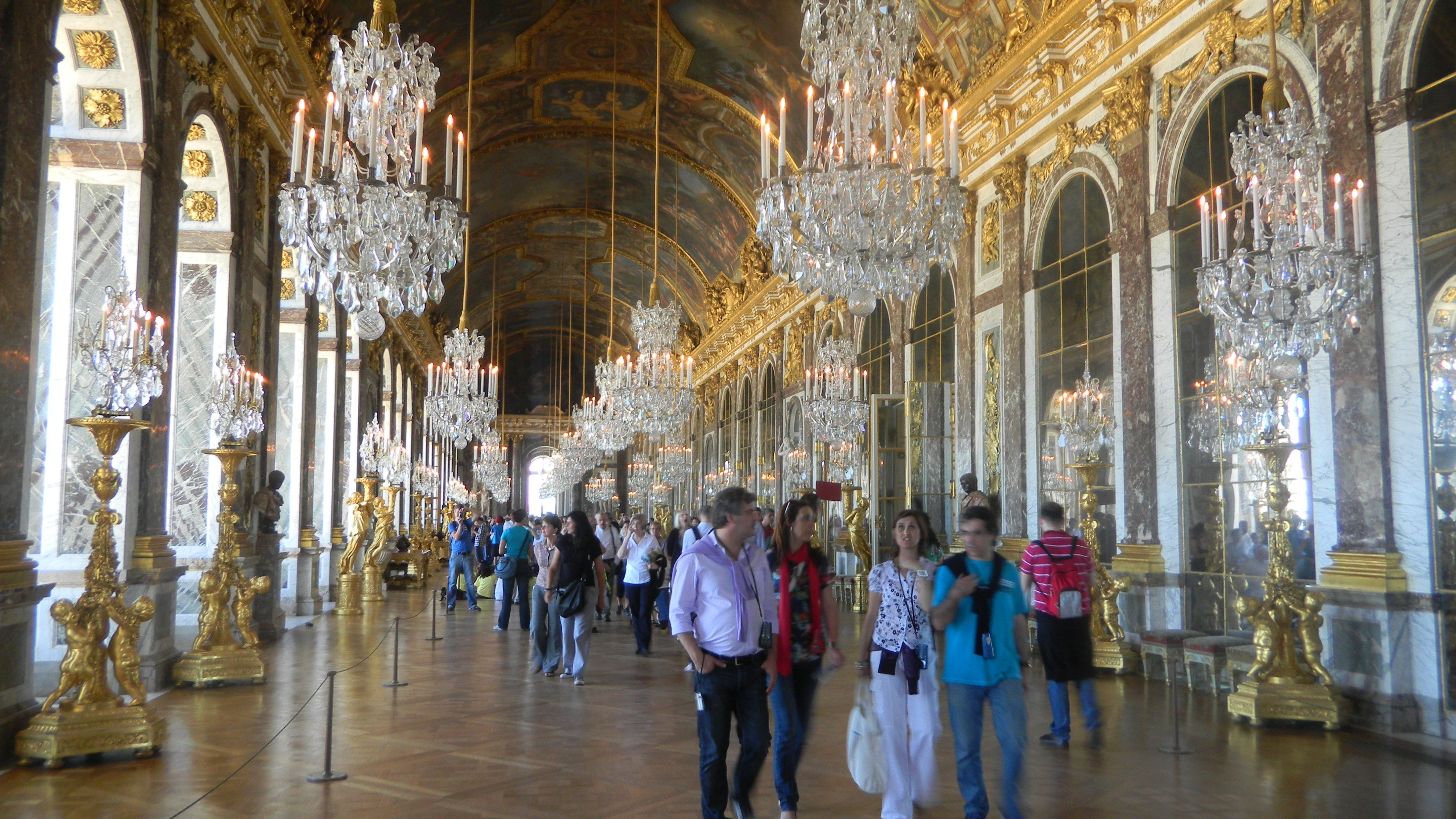 The hall of mirrors at versailles no room full of mirrors the hall of mirrors at versailles no room full of mirrors chandeliers and aloadofball Gallery