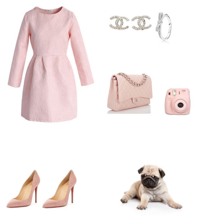 """""""Super Girly Outfit"""" by angelsommer on Polyvore featuring Chicwish, Christian Louboutin, Chanel and Pandora"""