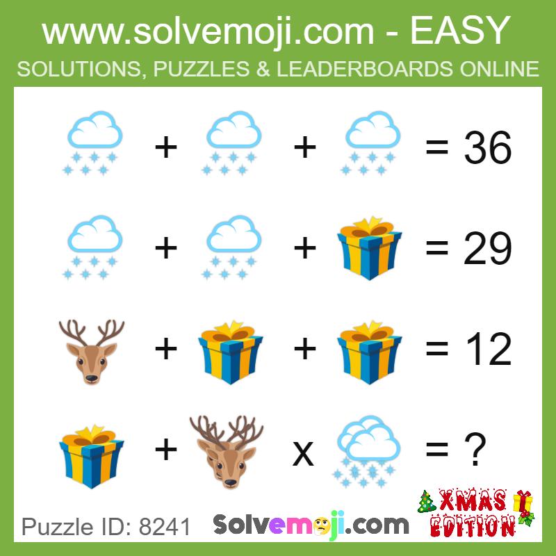 puzzle_8241 | Math Solvemojis | Maths puzzles, Math games