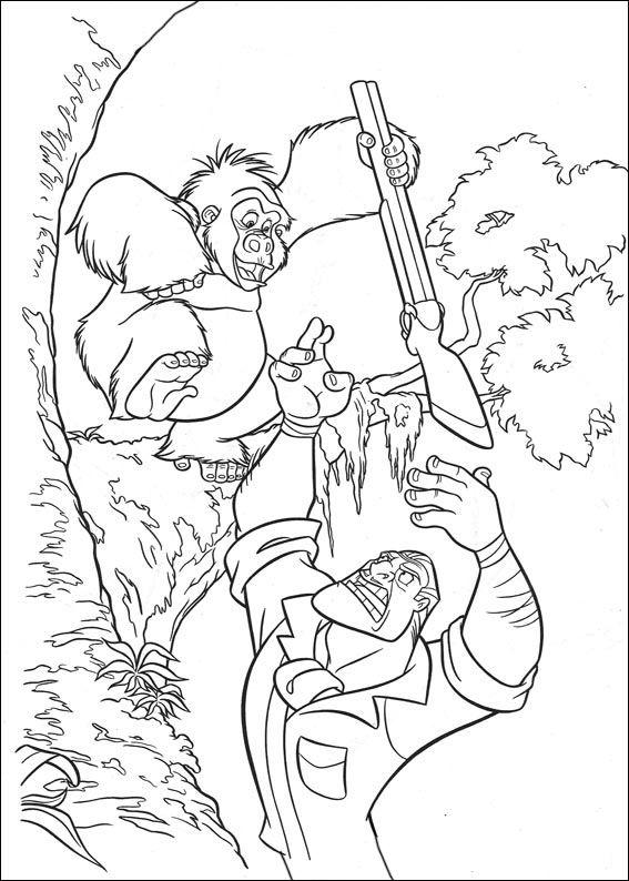 disegni da colorare tarzan 3 - Coloriage Tarzan 3