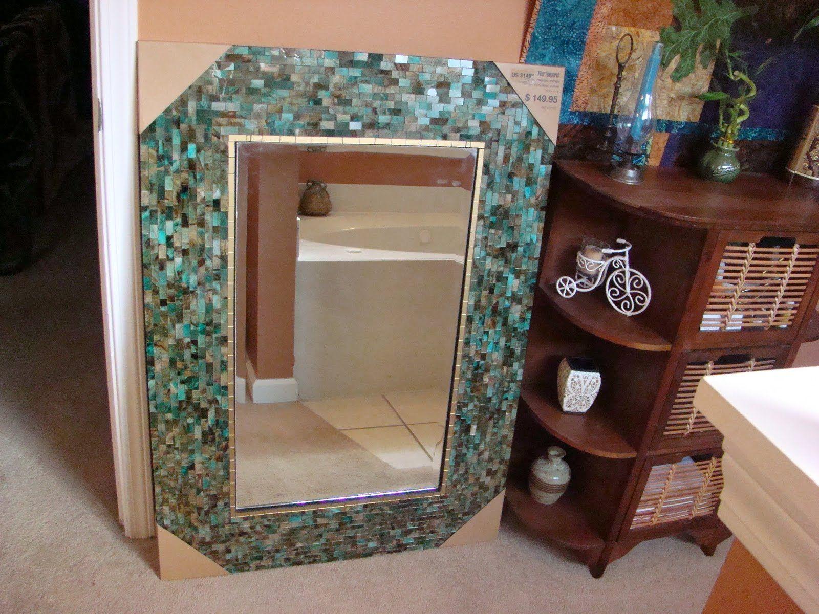 Ocean Mosaic Mirror Pier 1 | Tile crafts, Mirror tiles