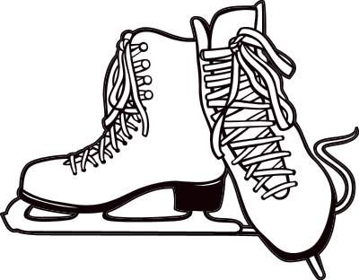 figure skates are a type of ice skate used by figure skaters rh pinterest com ice skating images clip art ice skating clip art free images