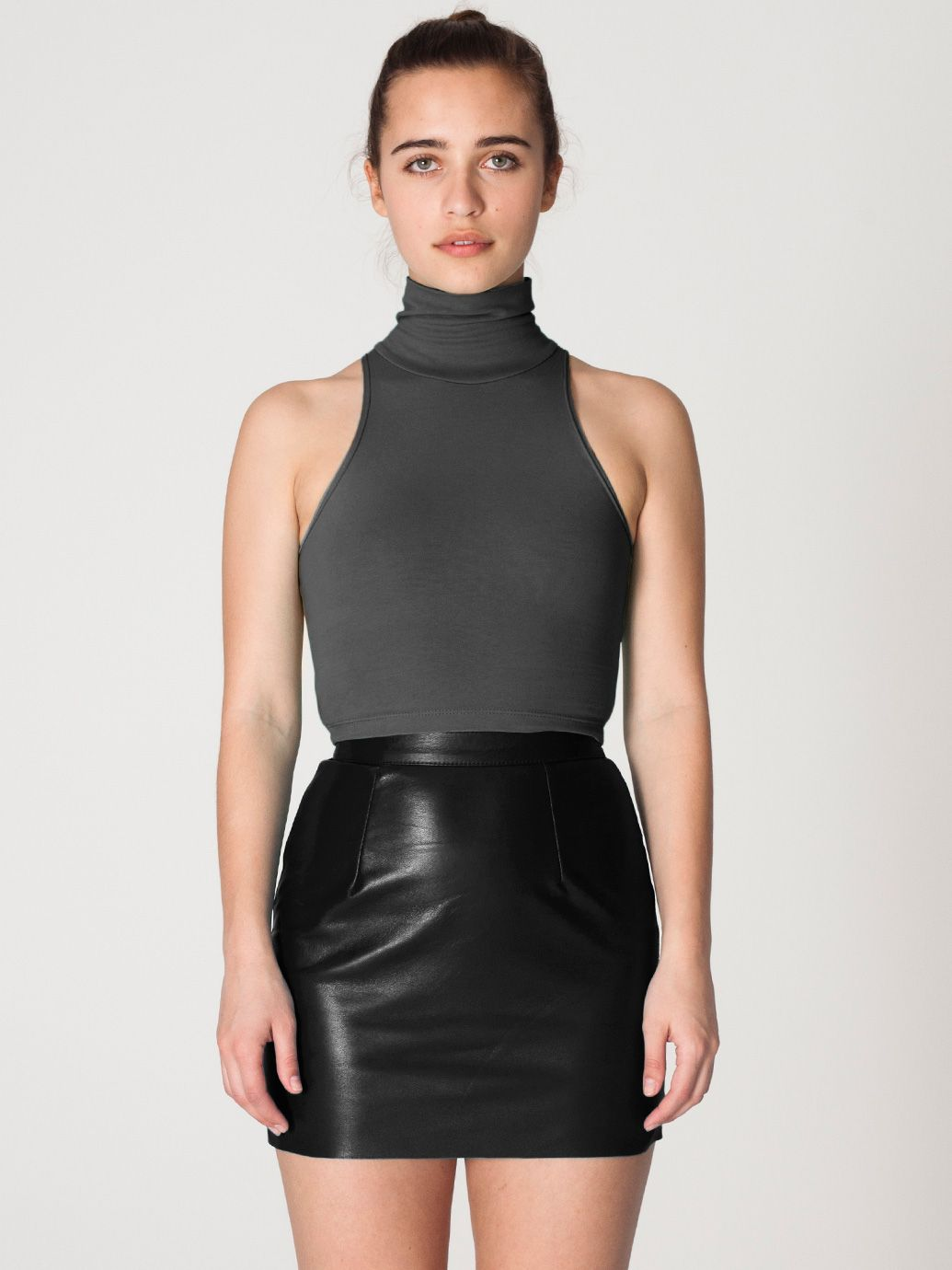 The Leather Mini Skirt in Black by #AmericanApparel. #leather ...