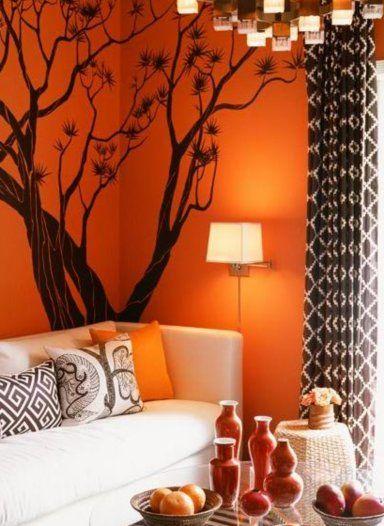 Sala De Estar En Naranja ~ Salas De Estar Naranja en Pinterest  Salas Naranja, Pintura Para