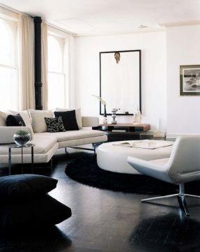 Black Sofas Living Room Design Awesome Modernwhiteampblacklivingroomdesignwithwhitemodern Decorating Design