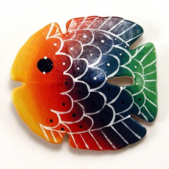 Rainbow Fish - $12.95 : Chesapeake Bay Christmas Company, Unique, handcrafted Santas, handpainted ornaments & home decor