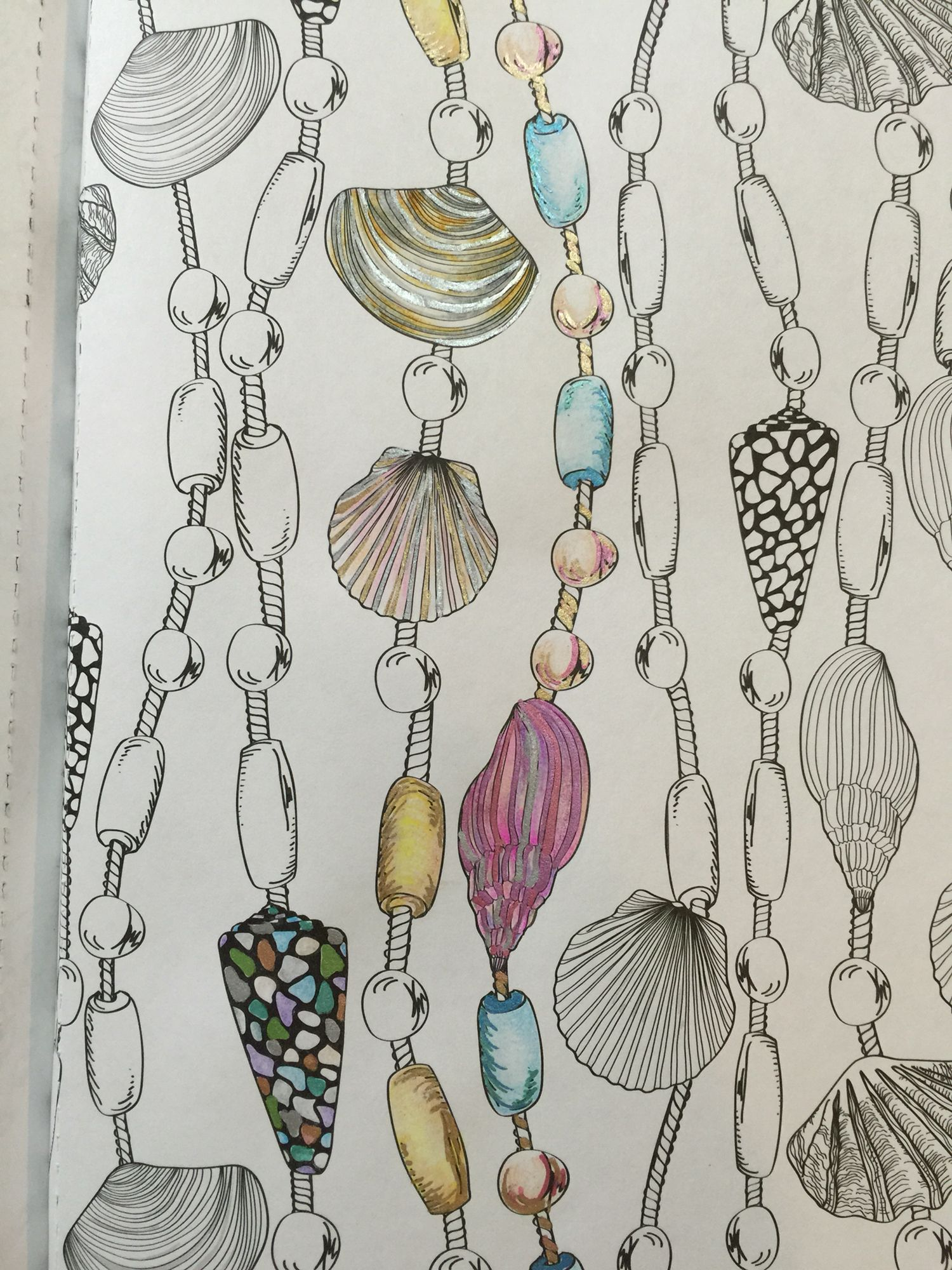 Coloring With Gel Pens Watercolor Pencils Colored