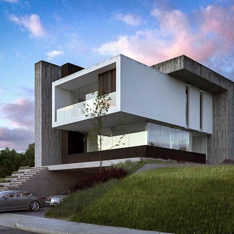 sensacional cuadrada y minimalista fachadas casas